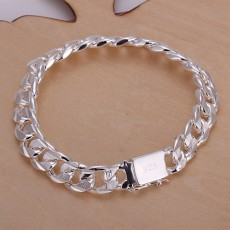 high quality fashion hot sale 925 Sterling Silver Bracelets charm 10MM chain Men Women wedding gift free shipping factory price