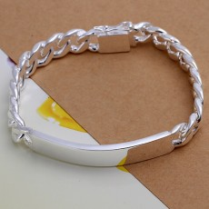 Charm 925 Sterling silver design noble pretty 10MM Mens chain Jewelry fashion Geometric Bracelet free shipping factory price