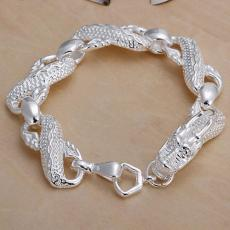 Wholesale hot men women chain 925 Sterling silver bracelets noble Dragon party party fashion jewelry Christmas gifts
