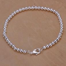 5PCS 925 Sterling Silver Bracelet Jewelry charm women 4MM chain beads Bracelets free shipping for women girl
