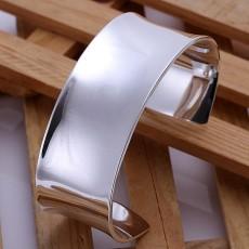 925 Sterling silver high quality fashion Silver Women solid lady bangle jewelry charm big cuff men bracelet jewelry