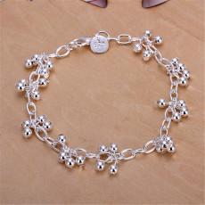 Beautiful 925 Sterling silver bracelets nice for wedding women chain Bracelet Charm beads fashion gorgeous jewelry wholesale