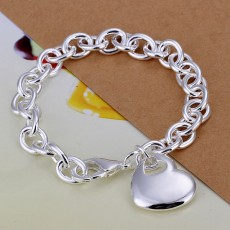 925 Sterling silver heart solid Charms love women lady valentine gift Jewelry High quality 20CM chain wedding gifts