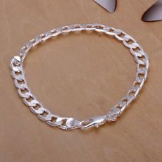 925 Sterling Silver Bracelet chain design top quality fashion Jewelry 8MM men women 20cm Bracelets free shipping noble gifts