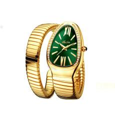 Fashion Explosion Models Ladies Quartz Wristwatches Watch Personality Snake Head Bracelet Stainless Steel Diamond Studded Snake Watches Female