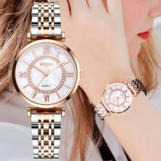cwp 2021 Selling Gold Quartz Watch Fashion Temperament Simple Watches Classic Alloy Steel Band Ladies Wristwatches