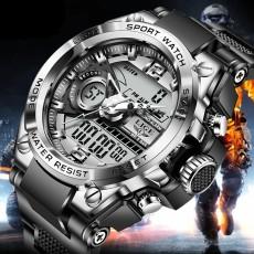 2021fashion Sport Men Quartz Digital Wristwatches Watch Creative Diving Watches Waterproof Alarm Dual Display Clock Relogio Masculino