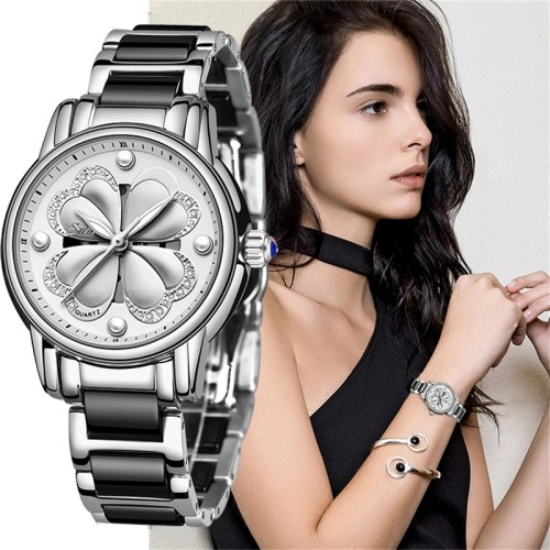 Luxury Women Wristwatches Watch Women's Ceramic Watches Fashion Dress Lady Girl Analog Quartz Clock Zegarek Damsk