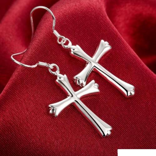 Cross earrings DFMSE305,women's 925 silver Dangle Chandelier earrings factory direct