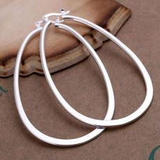 925 Sterling silver hoop Earring Noble design elegant fashion women big Earrings Jewelry lady cute wedding gifts hoops