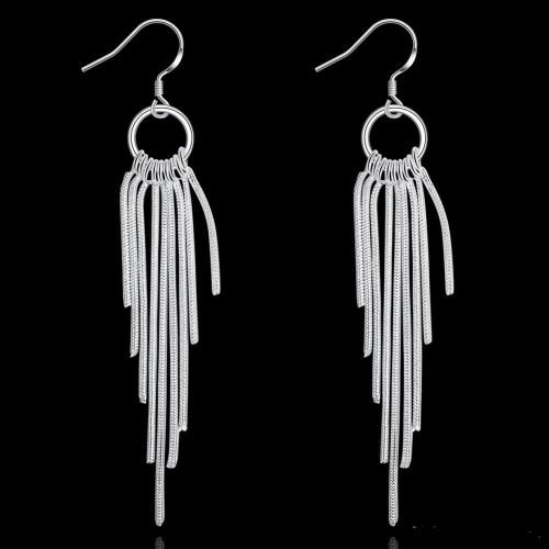 Wicker Earrings DFMSE273,women's 925 silver Dangle Chandelier earrings