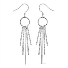 Five column earrings DFMSE026,women's 925 silver Dangle Chandelier earrings