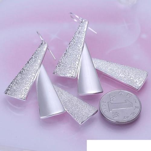 Three earrings DFMSE015,women's 925 silver Dangle Chandelier earrings
