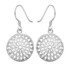 Round package earrings DFMSE112,women's 925 silver Dangle Chandelier earrings