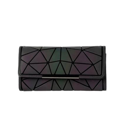 Badenroo Women Wallet Clutch Female Long Noctilucent Purse Geometric Zipper Glowing Phone Wallet Ladies Fashion Luminous Clutch