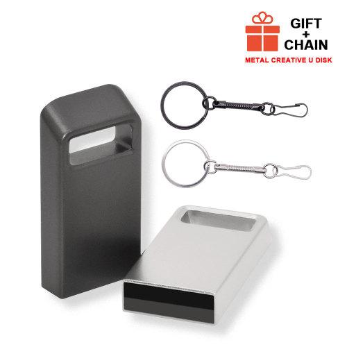 Cle USB 2.0 4GB 8GB 16GB 32GB 64GB Smooth Metal Case Pendrive New USB Flash Pen Drive Over 10 Free Logo Bulk Gift Free Shipping