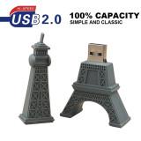 USB Flash Drive Cartoon Eiffel Tower Shape 16GB 32GB 64GB USB 2.0 Pen Drive Memory Stick Pendrive Flashdrive Cute Gifts