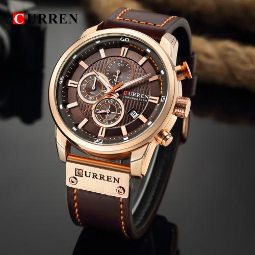 CURREN Fashion Date Quartz Men Watches Top Brand Luxury Male Clock Chronograph Sport Mens Wrist Watch Hodinky Relogio Masculino