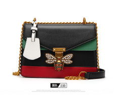 New Arrival Women Contrast Color Splicing Little bee Bags Fashion Zipper Designer Handbag Casual Shoulder Messenger Bag New Sac Femme
