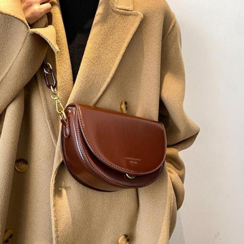 Solid color Flip 2021 Fashion New High-quality PU Leather Women Designer Handbag Vintage Small Shoulder Messenger Bag
