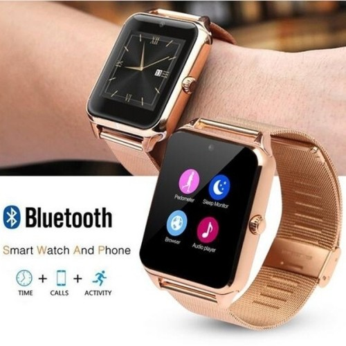 Bluetooth Smart Watch Phone Z60 Smart Watch Stainless Steelcompatible compatible with Samsung,Xiaomi huawei,IPHONE. Android,ios Smartphones iPhone Mobile Phone
