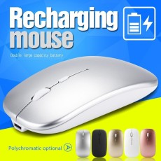 Rechargeable Wireless/wired Mouse, 2.4G Portable Optical Silent Ultra Thin Wireless Computer Mouse with USB Receiver,Compatible with PC, Laptop, Desktop