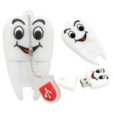 Real Capacity Tooth Shape USB Flash Drives 8GB 16GB 32GB 64GB Teeth Pen Drive 128GB USB Flash Memory Stick 256G External Storage