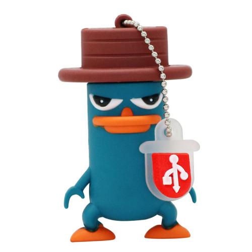 USB Flash Drive PenDrive Funny Lovely Perry The Platypus Shape Flash Memory 2.0 Pen Memory U Disk 4G 8G 16G 32GB 256GB USB Drive