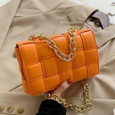 Women Crossbody Bag Weave Flap Bags For 2021 Quality Leather Thick Chain Shoulder Messenger Female Handbag Purse Cross Body