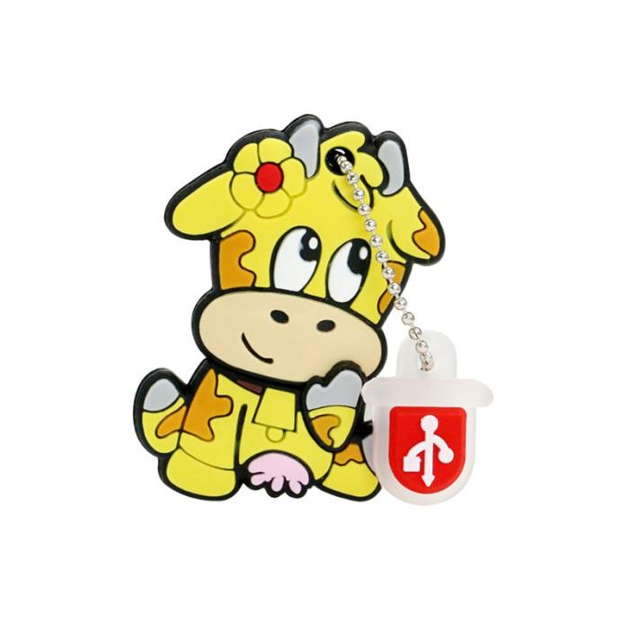Cute Dairy Cow Usb Flash Drive Cartoon Animal Cow Giraffe Pendrive 4GB 8GB 16GB 32GB 64GB 128GB 256GB Memory Stick U Disk Flash
