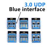 Wholesale UDP USB 3.0 memory flash 4GB 8GB 16GB 32GB 64GB short U disk semi-finished chip pendrive Free shipping