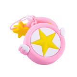 New Cartoon USB flash drive 128GB Cute pink stars Pen drive Gifts for girls beautiful girly heart key chain ring Pendrive
