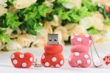 Cartoon minnie bowknot usb flash drive tie pendrive 4GB 8GB 16GB 32GB U disk memory stick cute gifts decoration USB creativo