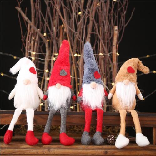 Christmas decorations plush doll doll decoration creative forest old man standing pose small doll creative decoration  4pcs