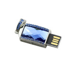 Necklace USB 2.0 Flash Drive 128GB Pen Drive 256G Pendrive Crystal Gemstone Pendant 4GB 8GB 16GB 32GB 64GB USB Stick Memory Disk