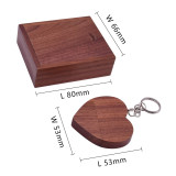 wooden heart love+box custom made LOGO usb flash drive 4GB 8GB 16GB 32GB 64GB usb 2.0 pen drive photography gift pendrive