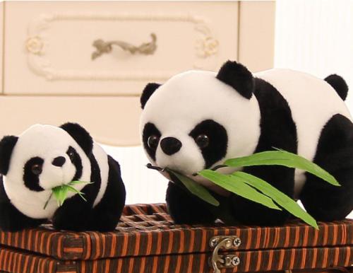 15 CM Stuffed Animals Plush Toys Cute Simulation animal cute bamboo leaf panda doll plush Toys