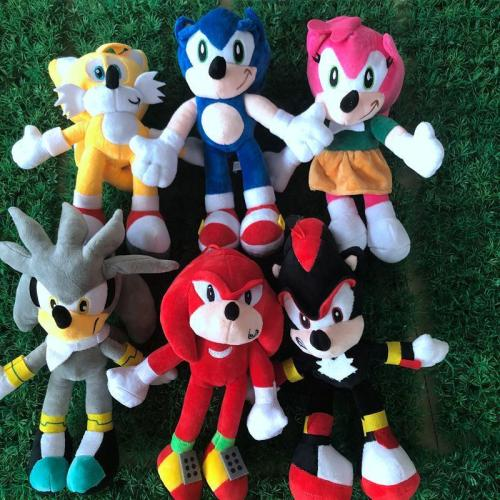 28cm Sonic the hedgehog Sonic Tails Knuckles the Echidna Stuffed animals Plush Toy link for 3pcs price