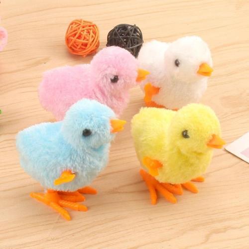 10pcs Cute Wind Up Chick Plush Animals Toy Kids Boy Girl Stuffed Animals Chick Clockwork Walking Toys Children Fun Gifts