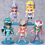 Brandnew 5pcs /Set 10cm Seiya Action Figures Knights Of The Zodiac Doll Janpaness Anime Cartoon Toys Kids Christmas Gifts