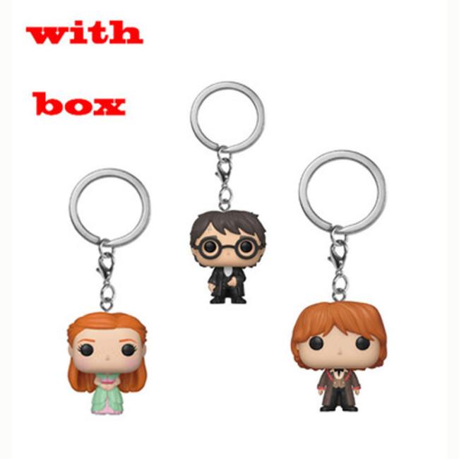 3pcs harry potter keychain pocket Toys Movie Action Figure