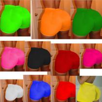 Sexy Solid Color Bodycon Yoga Shorts R6309