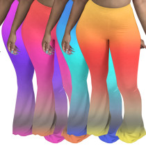 Colorful gradient mopping trousers flared pants MA6590