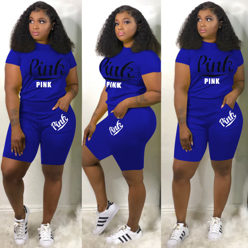 Fashion letter printing casual sports suit women H1135