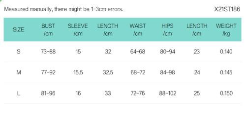 Pure color round neck short-sleeved waist T-shirt slim shorts set X21ST186