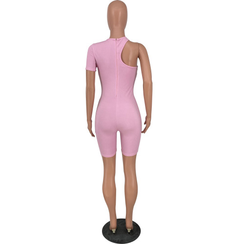Sexy cute high elastic irregular jumpsuit HY5221