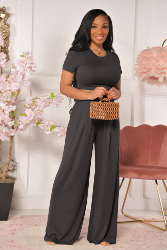 Fashion all-match casual wide-leg two-piece suit YD8381