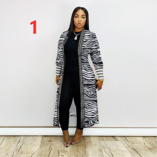 Autumn and winter threaded sleeve cardigan jacket Q319