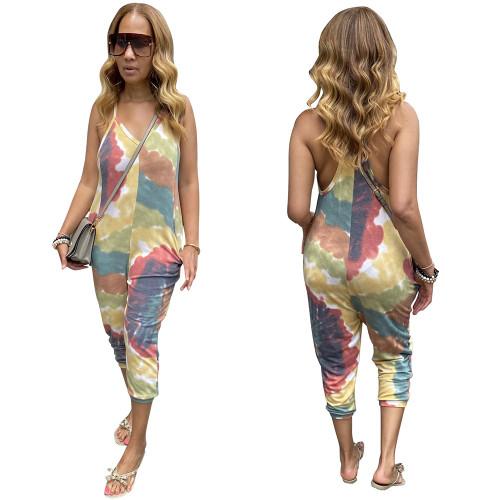 Fashion sexy suspender women's jumpsuit loose bodysuit nightclub clothes F278