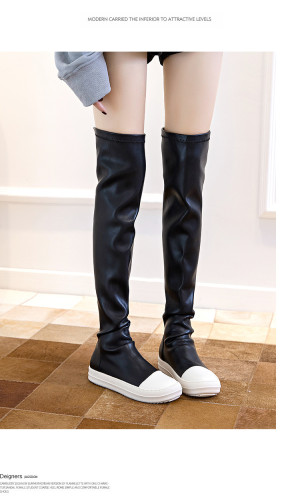 2021 autumn new women's high boots British style fashion casual long tube over the knee thick-soled women's boots 5927-1